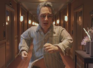 On the run: Michael (voiced by David Thewlis) in the stop-motion animation <i>Anomalisa</i>.
