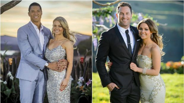 Hyde supported Sam Frost after Blake Garvey (left) dumped her, but she has yet to meet Sasha Mielczarek (right).