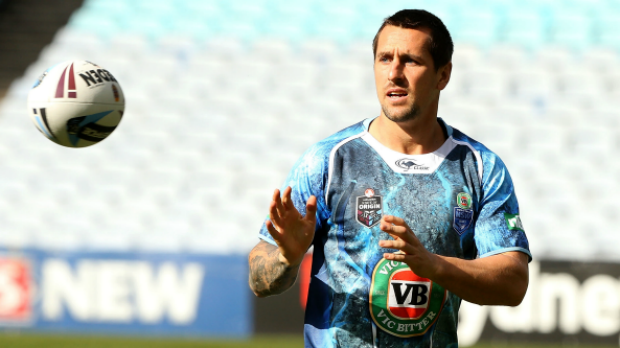 Focusing on club form: Sydney Roosters halfback Mitchell Pearce.