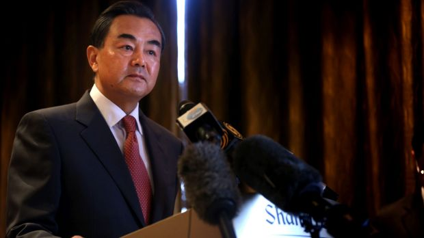 """""""Our position will not be swayed by specific events or the temporary mood of the moment"""": Chinese Foreign Minister Wang Yi."""
