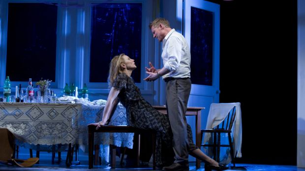Cate Blanchett and Richard Roxburgh in the STC production of <i>The Present</i>, now bound for Broadway.