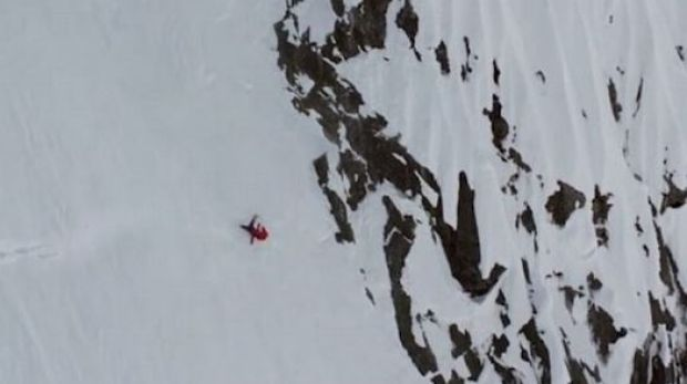 Angel Collinson said she hit an icy patch and lost control on the Alaskan mountain.
