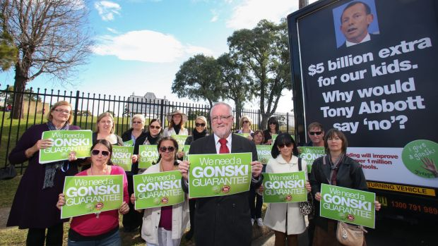 Public education advocates have been pushing for the major parties to fully fund the Gonski reforms.
