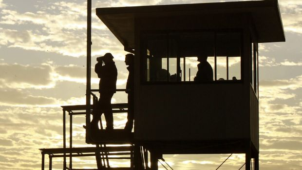 Keeping an eye on things: Trainer Peter Snowden is hoping Defcon can hit the ground running.