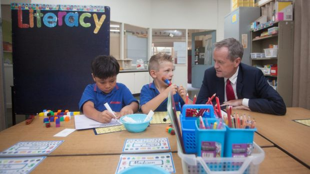 Bill Shorten visits Iramoo Primary School in Wyndham Vale on Thursday to announce education policy funding.