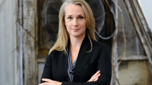 <i>Orange Is the New Black</i> author Piper Kerman on the set of the show.
