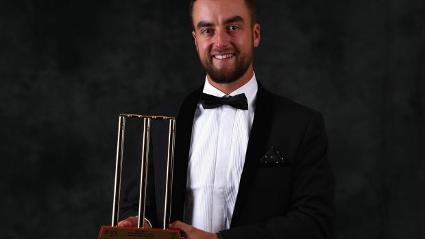 Winner: Alex Ross set himself for the Bradman Young Cricketer of the Year Award when watching the Allan Border Medal a ...