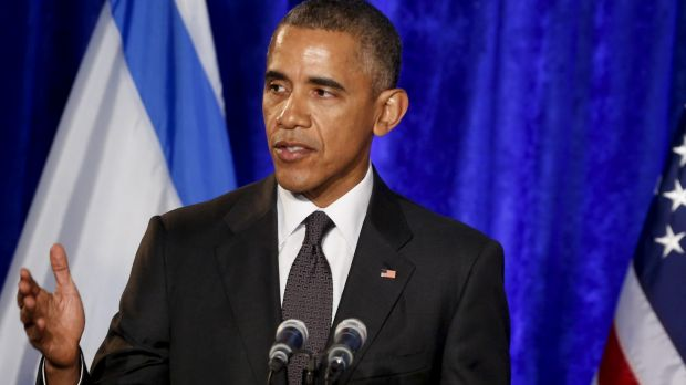 US President Barack Obama speaks at the Righteous Among the Nations award ceremony honouring several people who helped ...