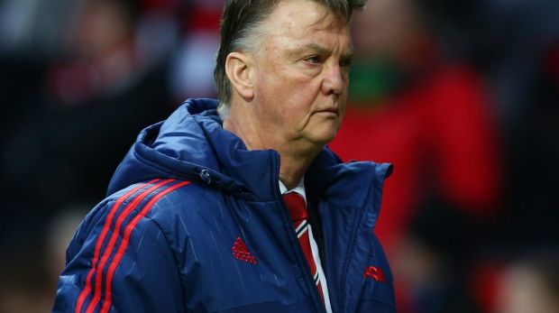 Under pressure: Manchester United manager Louis van Gaal.