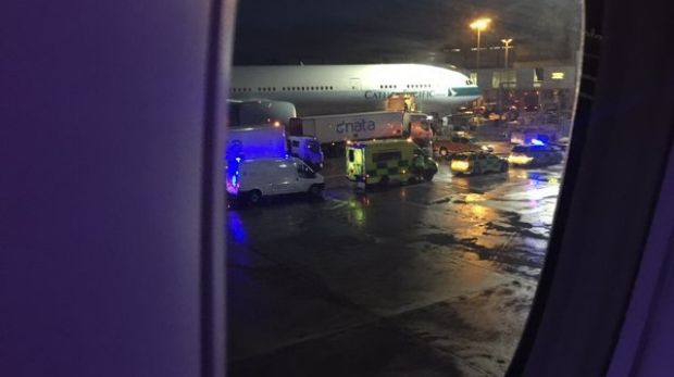 Passenger Eric Winter, Senior Vice President and GM for UFC FIGHT PASS, tweeted that the plane was surrounded by medical ...