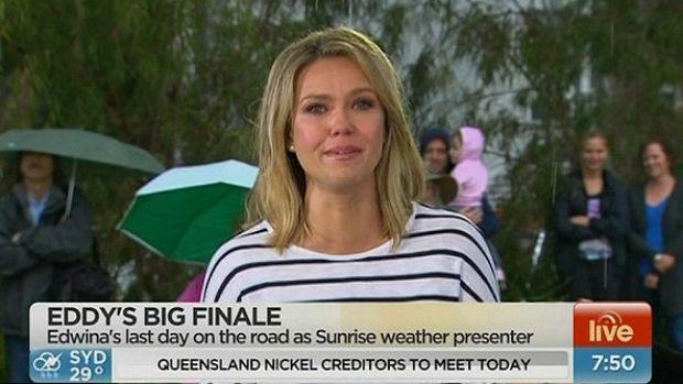Sad goodbye ... but Edwina Bartholomew will join <i>Sunrise</i> back in Sydney for a new presenting role.