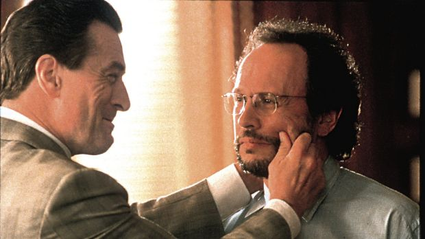 Robert De Niro, left and Billy Crystal in <i>Analyse This</i>. De Niro played a mob boss in psychotherapy.