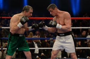 Robert De Niro, left and Sylvester Stallone in <i>Grudge Match</i>.