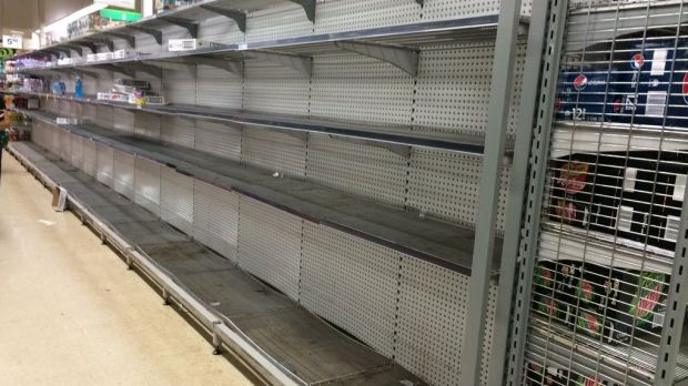 Supermarket shelves have already started to clear out in Port Hedland.