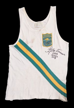 Peter Norman's Australian running uniform from the 1968 Mexico Olympics.