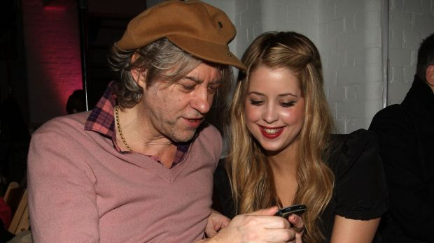 Bob Geldof with daughter Peaches in 2009.