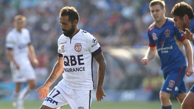Perth Glory's Diego Castro is in hot form.