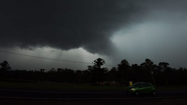 The storm in Sydney's north west near Richmond on Friday afternoon.