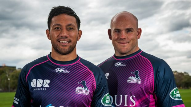 Christian Lealiifano and Stephen Moore will share the Brumbies' captaincy duties this year.