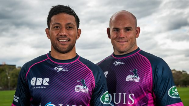 Dual roles: Christian Lealiifano and Stephen Moore will share the Brumbies' captaincy.