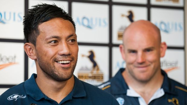 Christian Lealiifano and Stephen Moore will share on-field duties, including talking to referees, this season.
