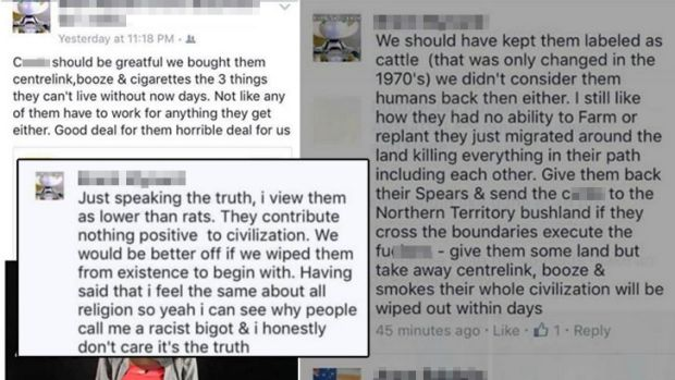 The rant which appeared on Facebook.
