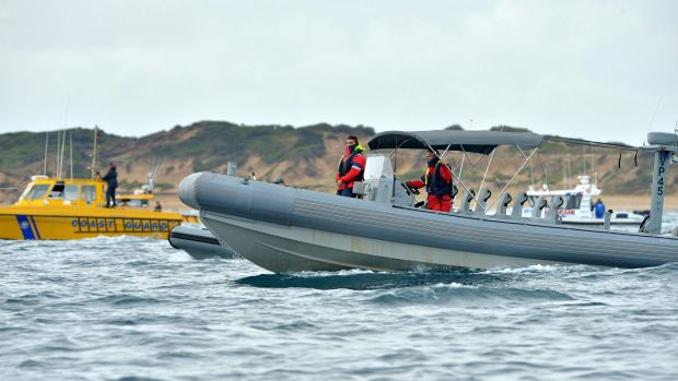 Police and the Coast Guard search for the missing plane crash victim.