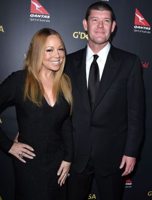 James Packer and fiancee Mariah Carey.