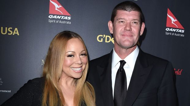 James Packer broke out his best moves to support Mariah Carey at her Las Vegas residency on Tuesday night.