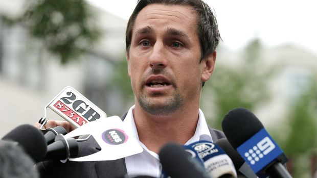Sorry: Mitchell Pearce apologises for his Australia Day antics.