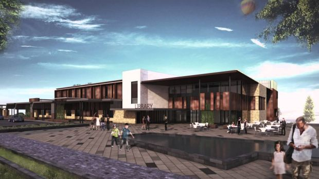Artists' impression of the new, $27 million Toowoomba library.