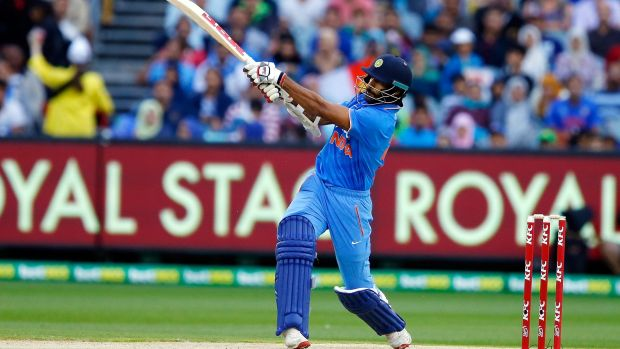 In the swing: India's Shikhar Dhawan scored freely.