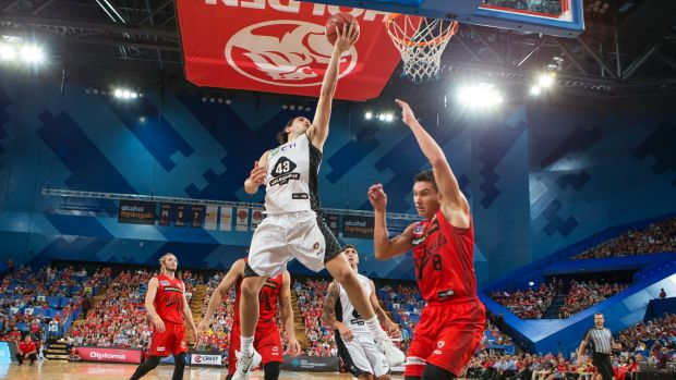 Power play: Melbourne United's Chris Goulding drives to the basket.