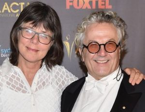 Margaret Sixel (left) won for her editing on partner George Miller's <i>Mad Max: Fury Road</i>.