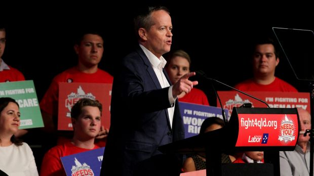 Bill Shorten looked very much like a man in election mode in Brisbane on Saturday.