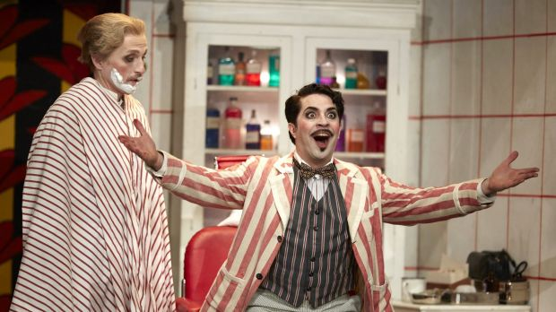 Paolo Bordogna is Figaro in the Barber of Seville.