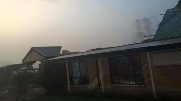 Roofs have been lifted and properties strewn with debris, as seen on the Queanbeyan SES Facebook page.