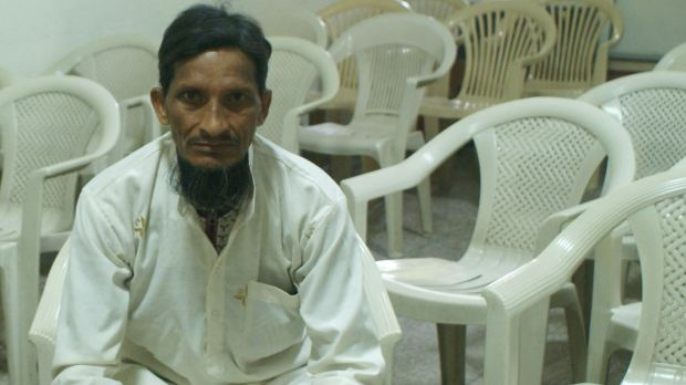 Mohammed Hussain who lives in a ''leper's colony'' in Delhi and who begs for a living.