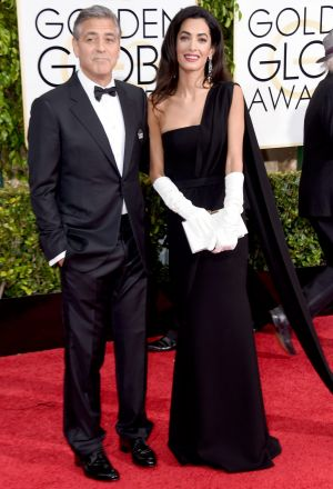 George and Amal Clooney  at the Golden Globe Awards in January 2015.