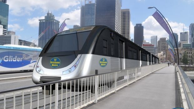 Lord Mayor Graham Quirk's proposed Brisbane metro service would not require overhead wires, with all electrification ...