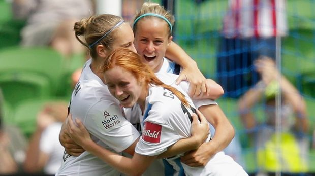 A fitting reward: Beattie Goad and her Melbourne City teammates were benficiaries of their club's strong investment.