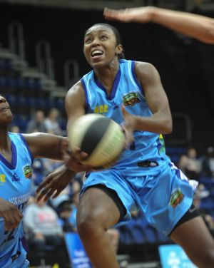 Renee Montgomery top-scored for the Canberra Capitals with 27 points in Sunday's 85-82 loss against the Adelaide ...
