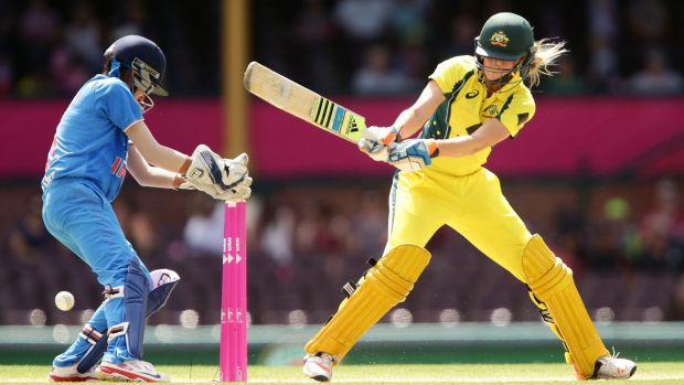 Australia's Ellyse Perry took charge of the third T20 against India.