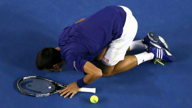 Courting success: Djokovic pays tribute to Melbourne Park.