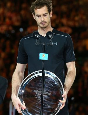 Silver of hope: A glum Murray holds the runners-up plate.