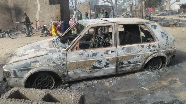 A survivor who sheltered in a tree says he watched Boko Haram extremists firebomb huts and listened to the screams of ...