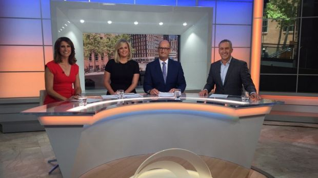 Sunrise's new set was unveiled on Monday morning.