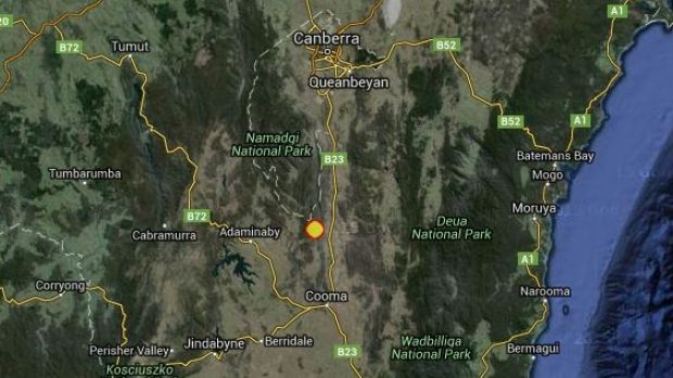 The earthquake near Bredbo struck about 4.40am on Sunday morning.