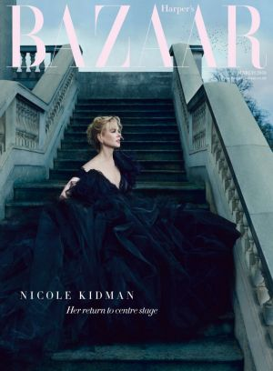 Nicole Kidman on the cover of Harper's Bazaar.