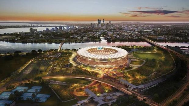 Let's open our new swanky stadium with a rugby game. Yeah, right.